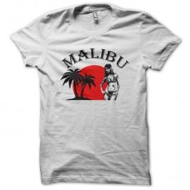 Shirt malibu blanc pour homme et femme