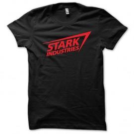 Shirt Stark industries Iron Man rouge/noir pour homme et femme
