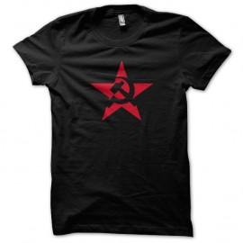 Shirt URSS etoile rouge noir pour homme et femme