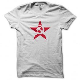 Shirt URSS Etoile rouge Blanc pour homme et femme