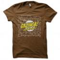 Shirt bazinga avec calcules physique chimie marron pour homme et femme