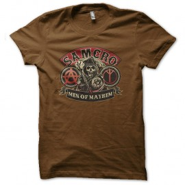 Shirt SOA Samcro men of mayhem marron pour homme et femme