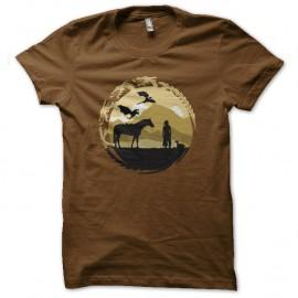 Shirt khaleesi panoramique got marron pour homme et femme