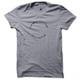 Shirt Citation Yoda gris pour homme et femme