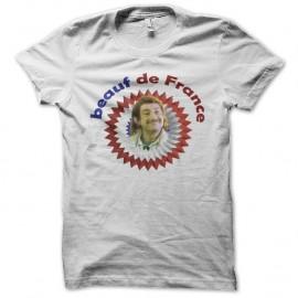 Shirt beauf de france sketch de kad et Olivier blanc pour homme et femme
