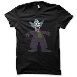 Shirt krusty le clown parodie le joker noir pour homme et femme