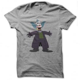 Shirt krusty le clown parodie joker gris pour homme et femme