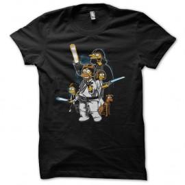 Shirt Les simpsons parodie star wars noir pour homme et femme