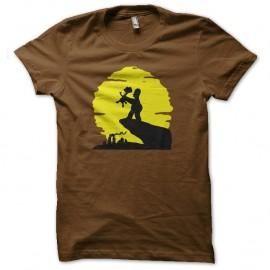 Shirt Les simpsons Homer et Bart parodie le roi lion marron pour homme et femme