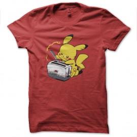 Shirt pikachu toaster rouge pour homme et femme