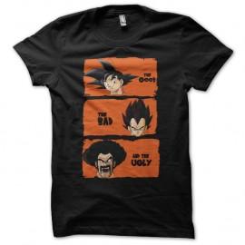 Shirt DBZ personnages parodie le bon la brute et le truand noir pour homme et femme