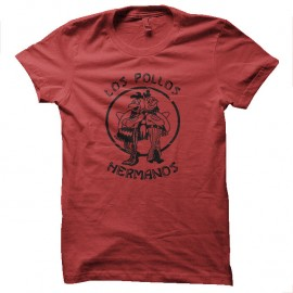 Shirt los pollos hermanos vintage rouge pour homme et femme