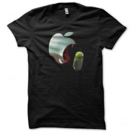 Shirt apple agresse android noir pour homme et femme