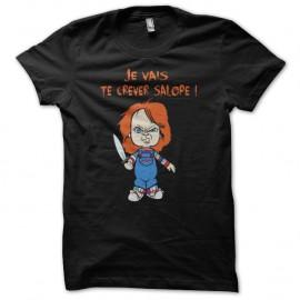 Shirt chucky la poupée phrases culte noir pour homme et femme