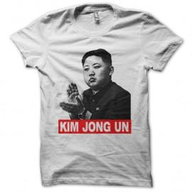 Shirt Kim jong blanc pour homme et femme
