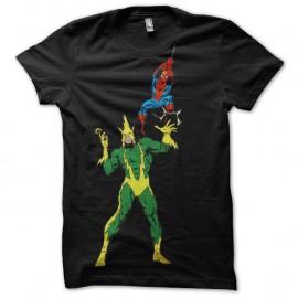 Shirt Electro vs Spidey noir pour homme et femme
