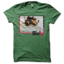Shirt Girly vert pour homme et femme