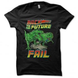 Shirt back to the future fail noir pour homme et femme