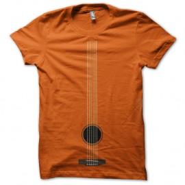 Shirt cordes de guitare orange pour homme et femme