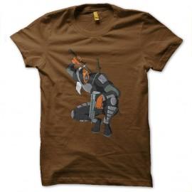 Shirt deathstroke marron pour homme et femme