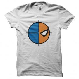 Shirt deathstroke symbole blanc pour homme et femme