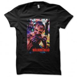 Shirt the walking dead affiche noir pour homme et femme