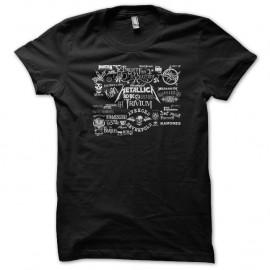 Shirt metal rock groupe noir pour homme et femme