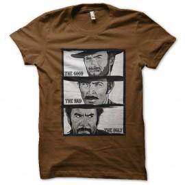 Shirt western clint eastwood marron pour homme et femme