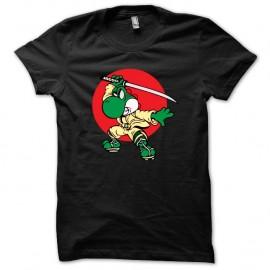 Shirt yoshi en ninja noir pour homme et femme