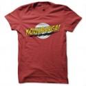 Shirt kowabunga parodie bazinga rouge pour homme et femme