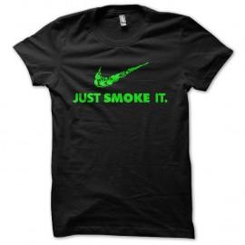 Shirt just smoke it parodie noir pour homme et femme