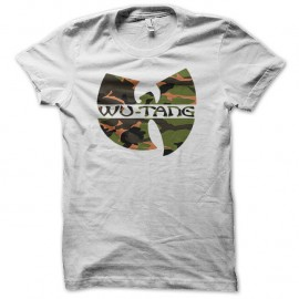 Shirt wu tang clan logo couleur camo blanc pour homme et femme