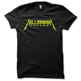 Shirt millenium falcon parodie metallica noir pour homme et femme