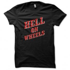 Shirt hell on wheels logo noir pour homme et femme