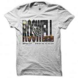 Shirt roswell nouveau mexique blanc pour homme et femme
