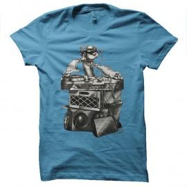 Shirt popeye dj bleu ciel pour homme et femme