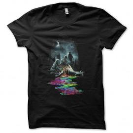 Shirt zombis licorne noir pour homme et femme