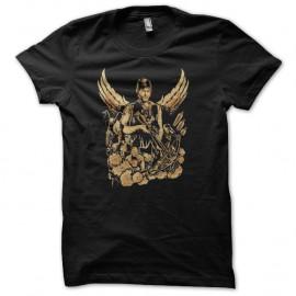Shirt daryl angel walking dead noir pour homme et femme