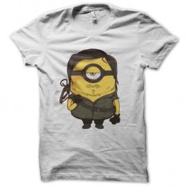 Shirt daryl dixon parodie minion blanc pour homme et femme