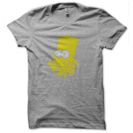 Shirt bart simpsons octopusy gris pour homme et femme