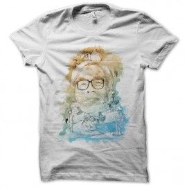 Shirt hayao miyazaki artistique blanc pour homme et femme