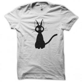 Shirt chat noir innocent blanc pour homme et femme