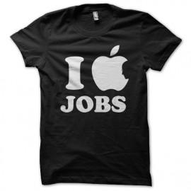 Shirt I love jobs noir pour homme et femme
