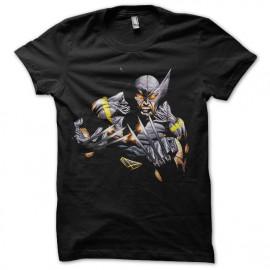 Shirt wolverine mode comics noir pour homme et femme