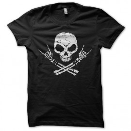 Shirt skull rock noir pour homme et femme