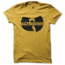 Shirt wu tang clan old school jaune pour homme et femme