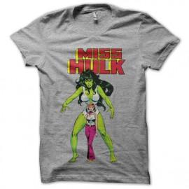 Shirt Miss Hulk gris pour homme et femme