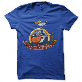 Shirt Captain et glou turquoise pour homme et femme