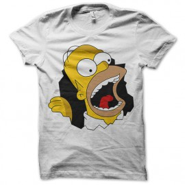 Shirt Homer Simpson beuaaa blanc pour homme et femme