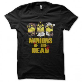 Shirt minions of the dead parodie the walking dead noir pour homme et femme